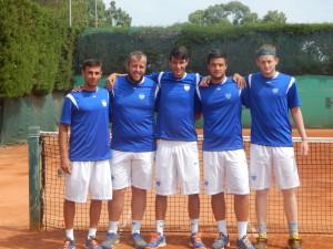 Da sinistra, Paris Gemouchidis, Filippo Stasi, Davide Albertoni, Pierdanio Lo Priore ed Alberto Giannini